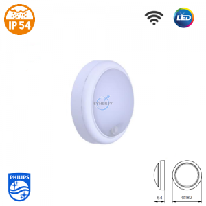 飞利浦 WL008C SmartBright IP54 LED 连感应 防水灯 (圆型)