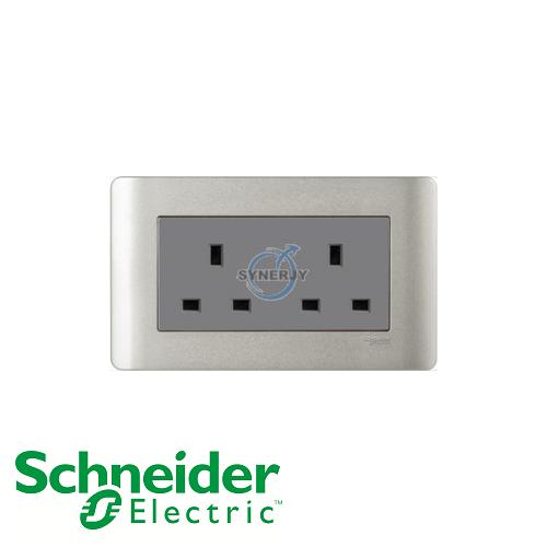Schneider//Get bronze 2 Gang 13 A Switched Socket