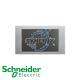 施耐德 Unica 兩位 13A 電源 插座 冰鋁銀