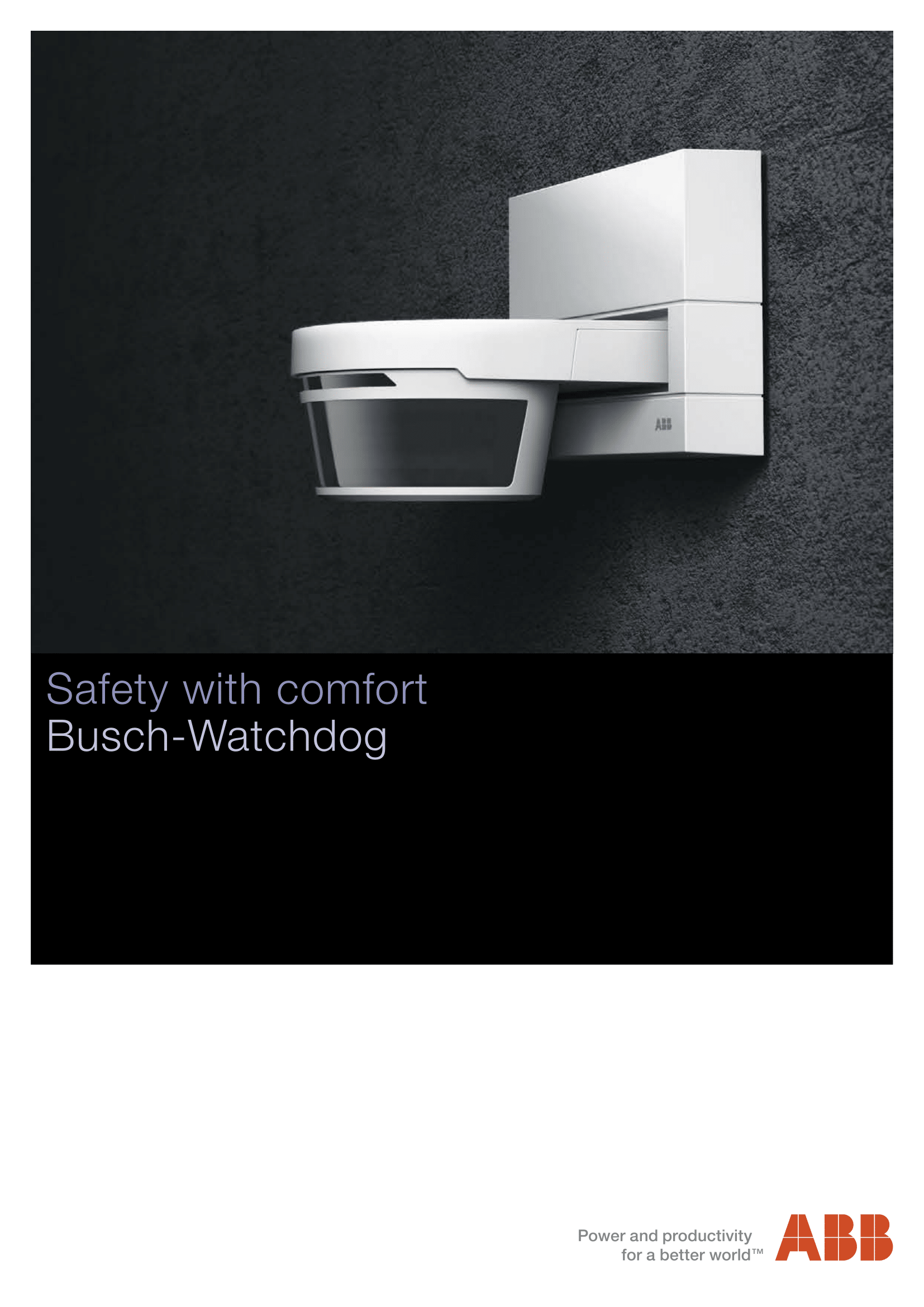 ABB Busch-Watchdog Catalogue