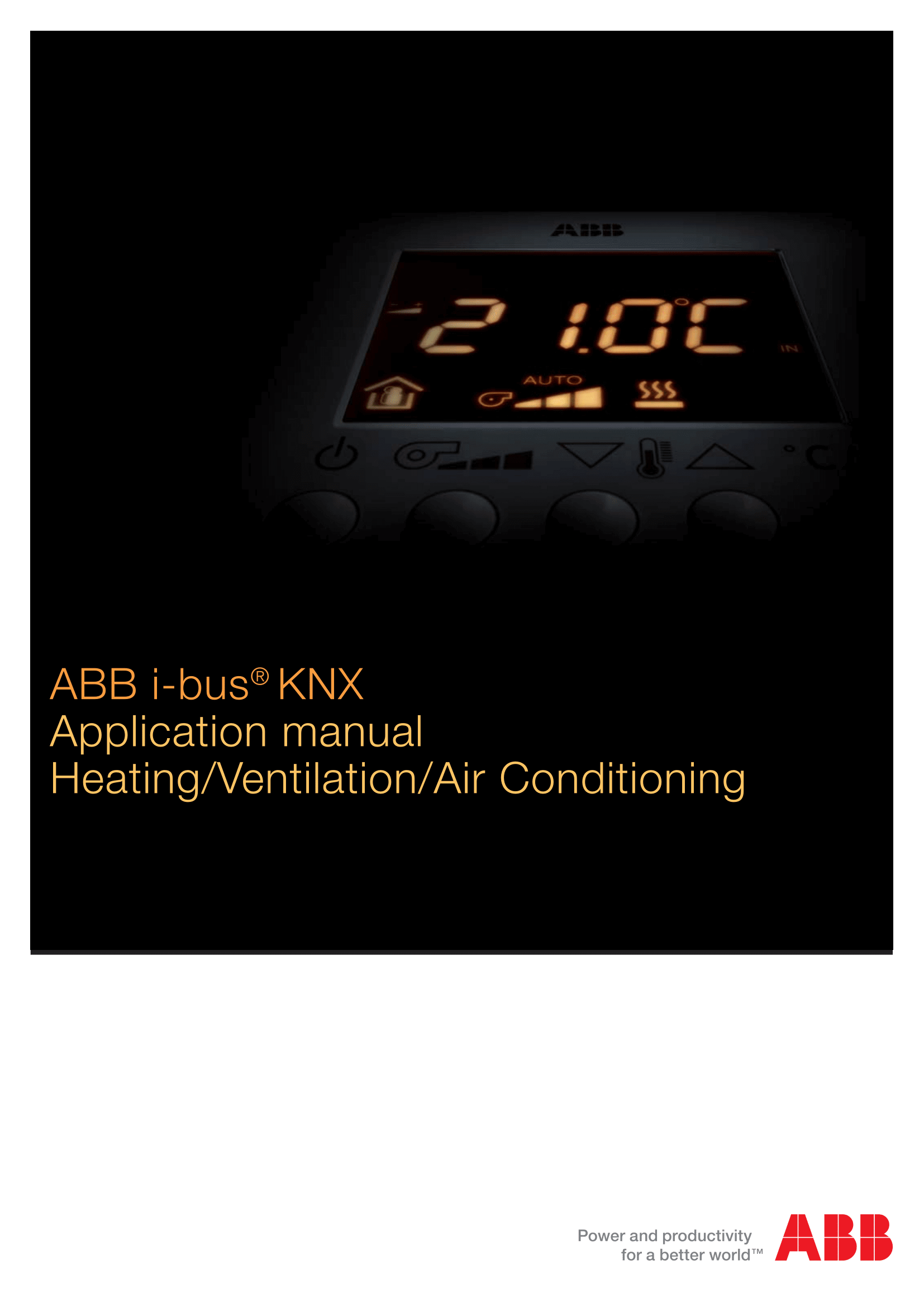 ABB KNX HVAC Control Application Manual