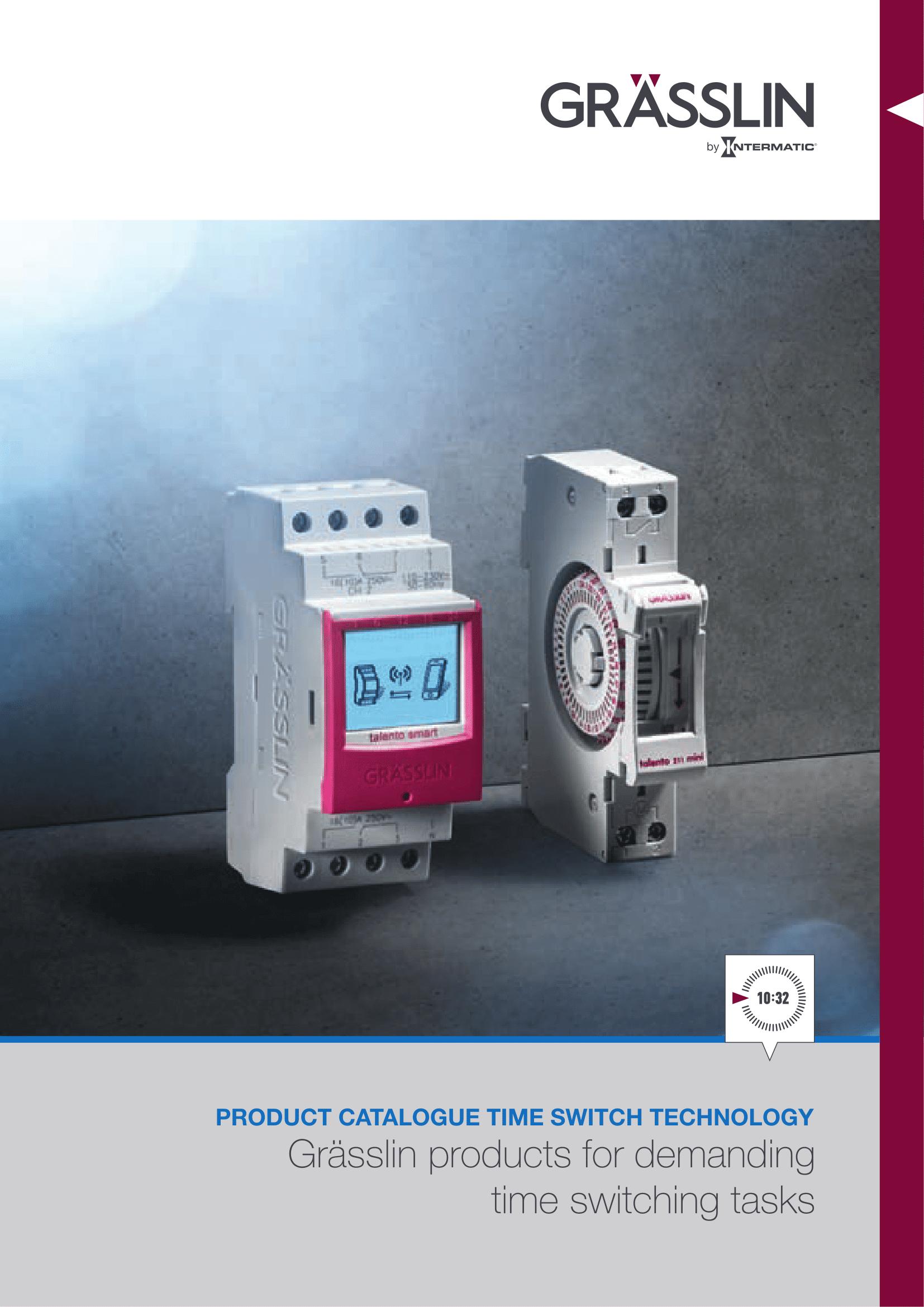 GRÄSSLIN Timer Switch Catalogue