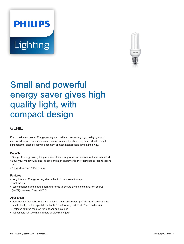 Philips Genie CFLi Brochure