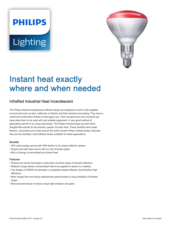 Philips Infrared BR125/PAR38 Brochure