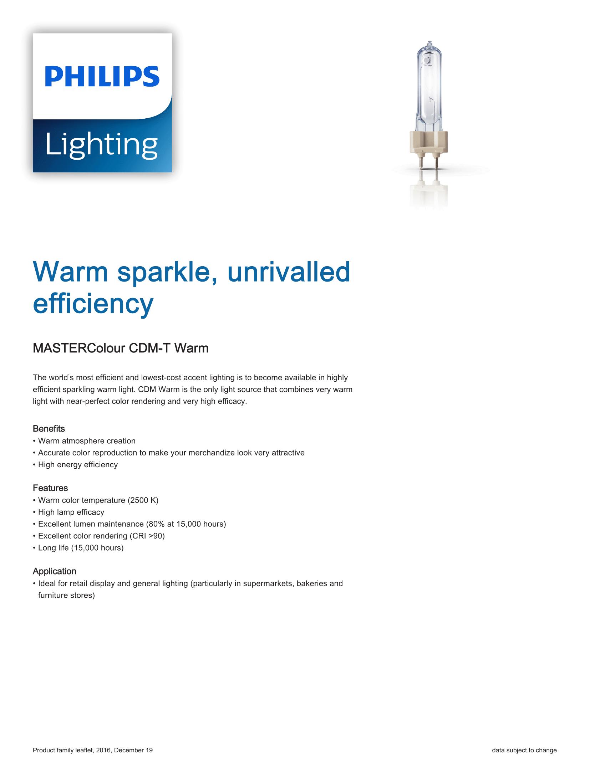 Philips CDM-T Warm Brochure