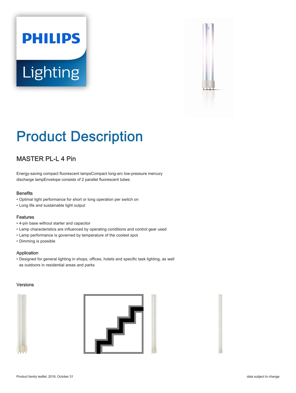Philips PL-L 4P Brochure