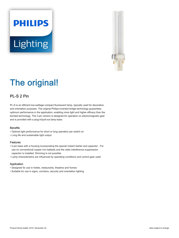 Philips PL-S 2P Brochure