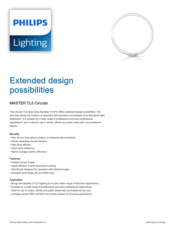 Philips Master TL5 Circular Brochure