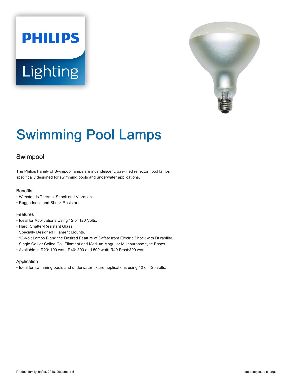 Philips Swimming Pool Lamps Brochure