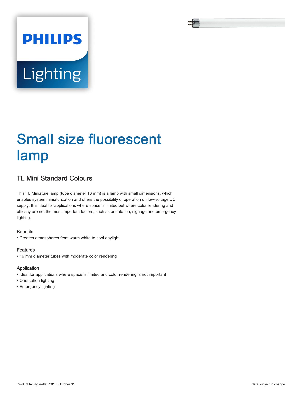 Philips TL Mini Standard Brochure