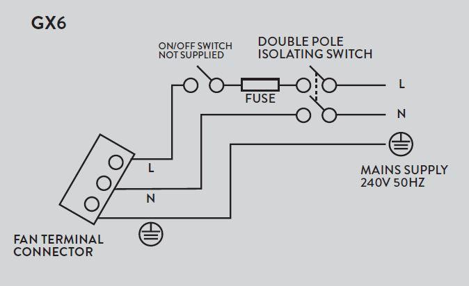 xpelair gx6 ventilation fan rh synerjy com hk  xpelair fan wiring instructions